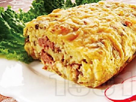 Картофено руло с телешка кайма - снимка на рецептата